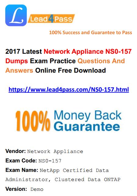 NS0-157 dumps