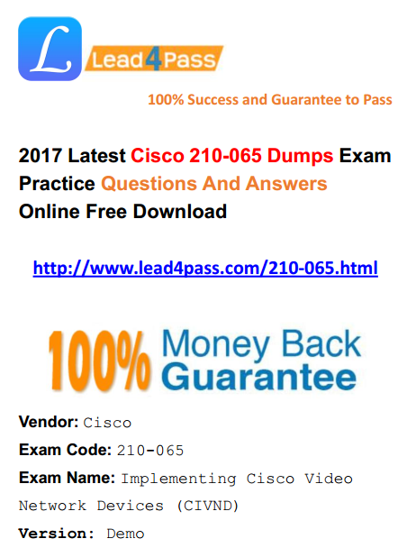 lead4pass 210-065 dumps