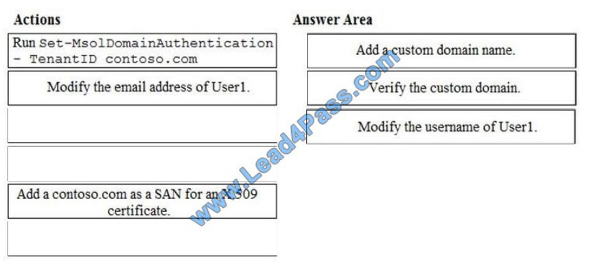 lead4pass ms-100 exam questions q10-1